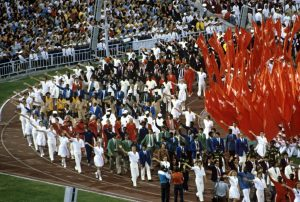 Cerimonia de encerramento dos Jogos Olímpicos de Moscou. O Boicote não foi suficiente para apagar a mágia do espetáculo.