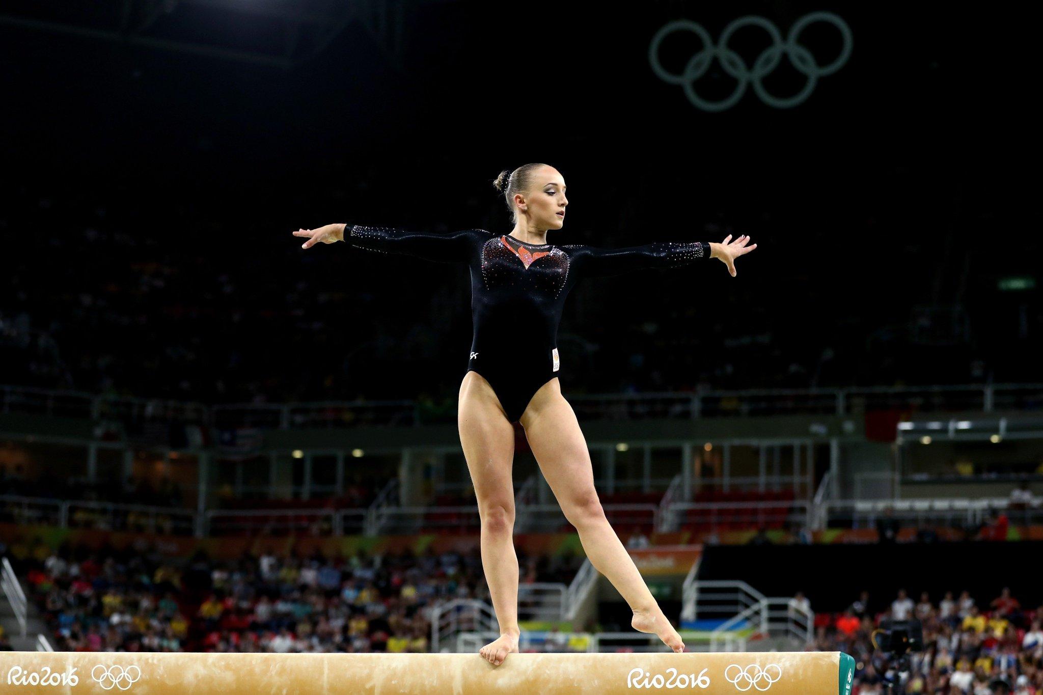 Sanne Wevers durante os Jogos Olímpicos de 2016.