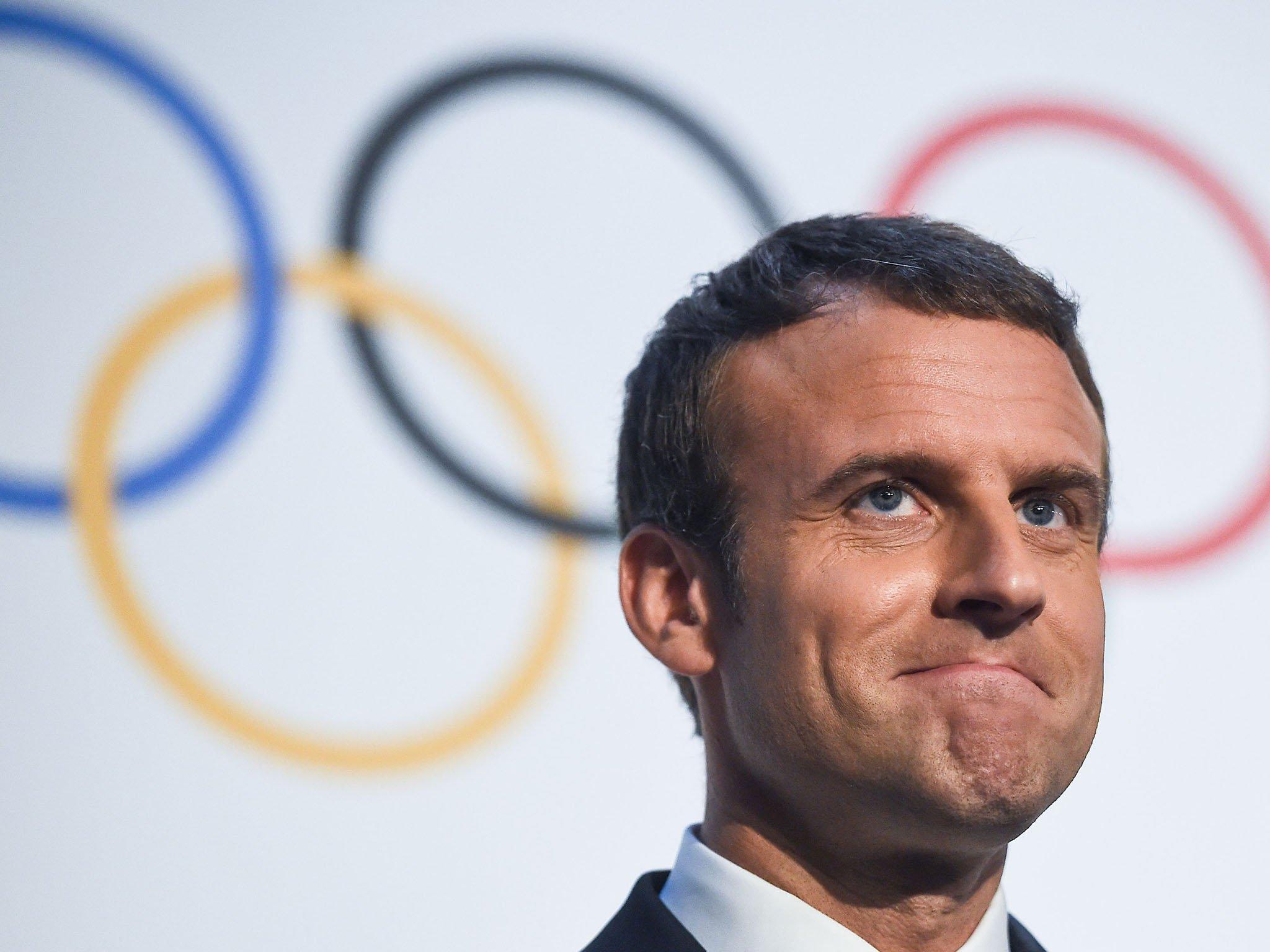 Presidente da França, Emmanuel Macron, fala sobre Paris 2024.