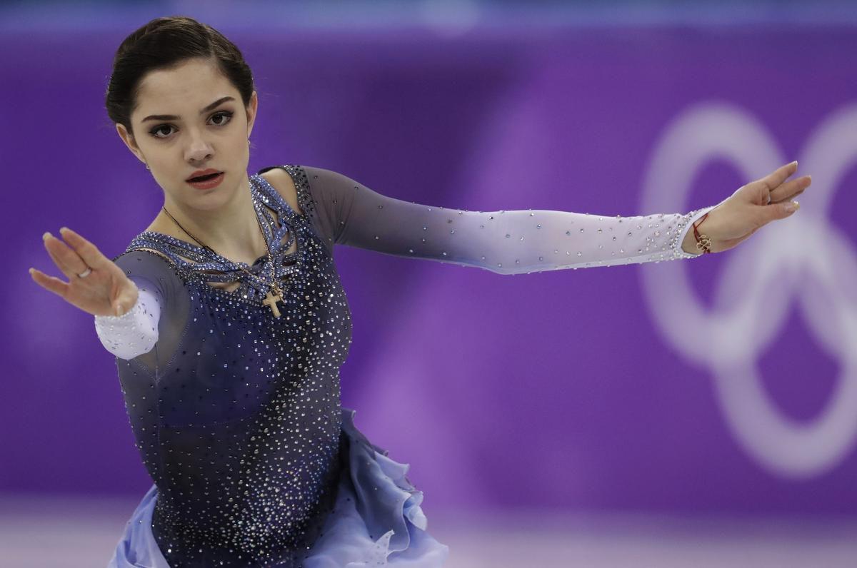 Evgenia Medvedeva nos Jogos Olímpicos de 22018.