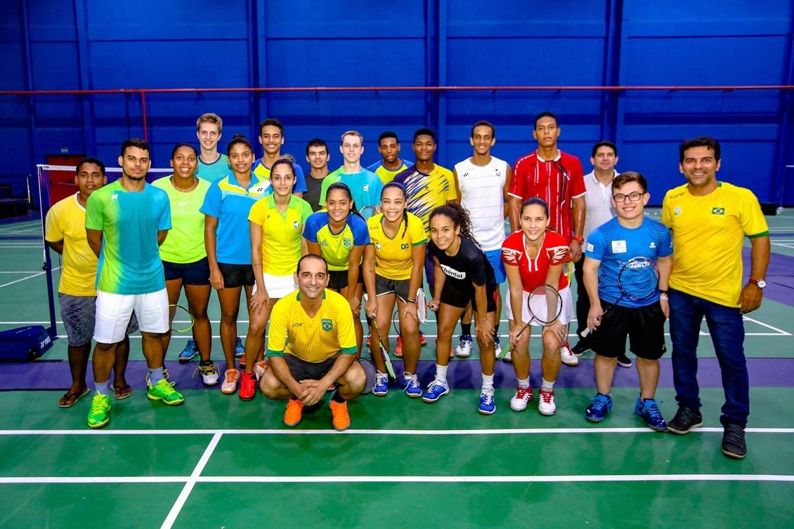Seleção bbrasileira de badminton em treino no CT de Teresina, Piauí.