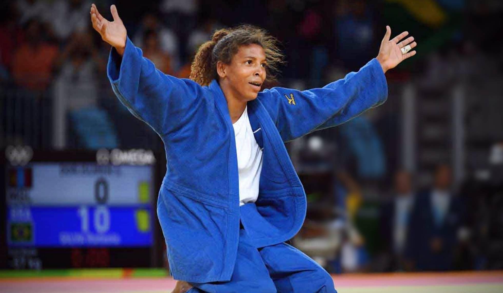 Rafaela Silva, primeira brasileira a conquistar um título olímpico e mundial, competirá no Grand Slam de Paris