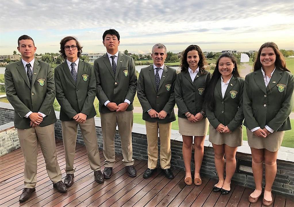 Equipe brasileira no Sul-Americano Juvenil de Golfe