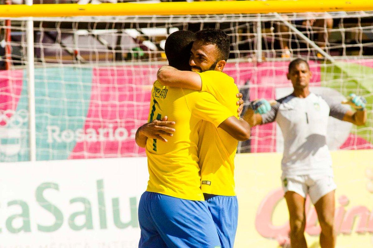 o futebol de areia do Brasil encara, neste sábado (23), a Argentina na decisão dos Jogos-Sul Americanos Rosário 2019, a partir das 14h30, horário de Brasília.