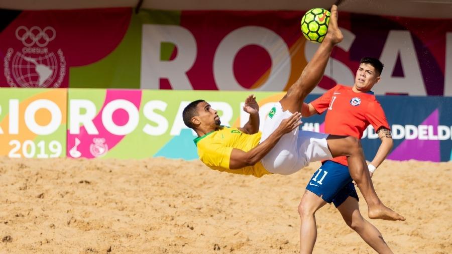 Futebol de areia do Brasil segue invicto em Rosário