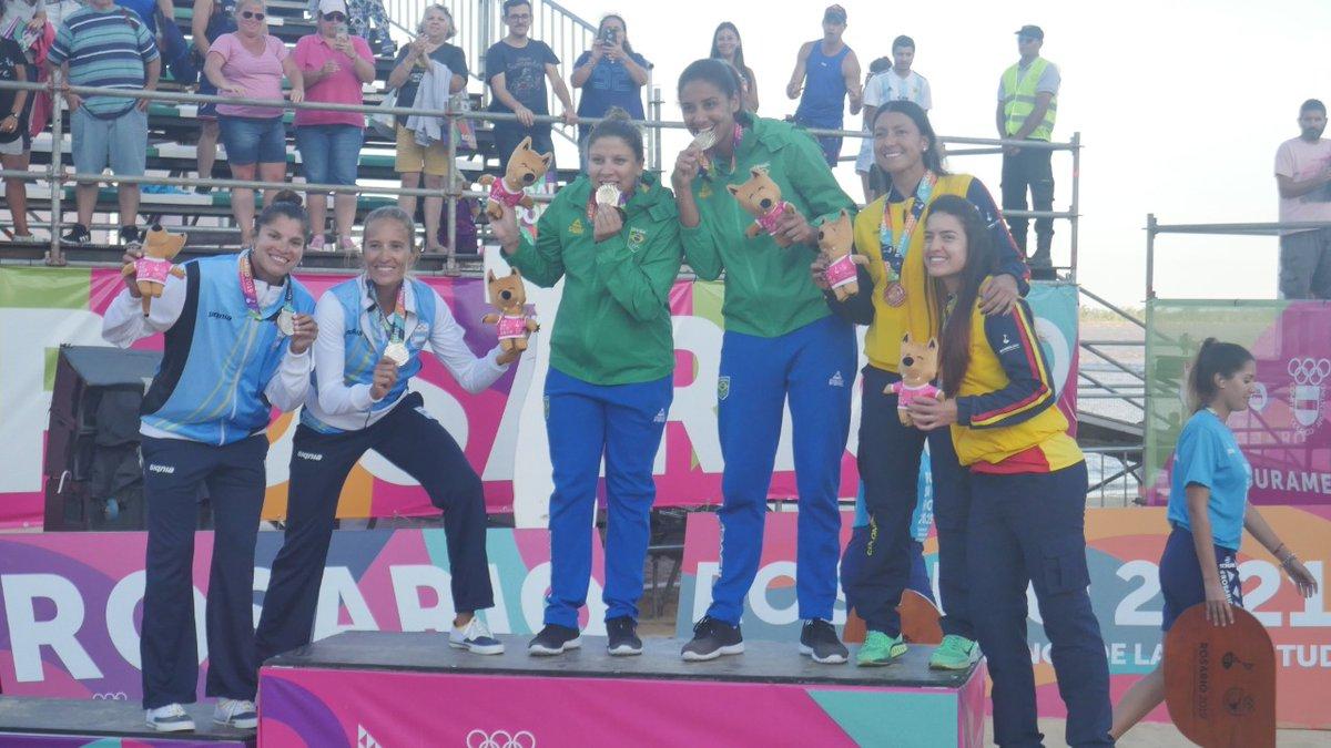Ana Patrícia e Rebeca conquistam o ouro em Rosário