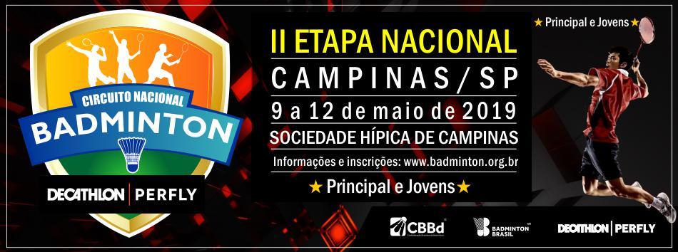 Campinas será sede da II Etapa Nacional de Badminton