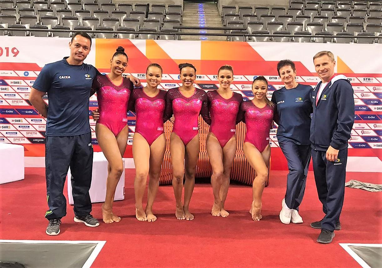 Seleção brasileira de ginástica artística disputa dtb pokal