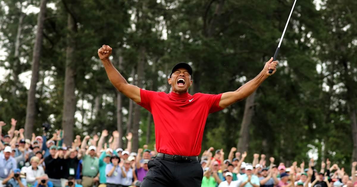 'Pensei em parar, e hoje fui campeão', diz Tiger Woods após vencer Major