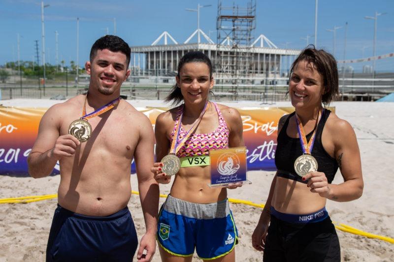 Em Portugal, Brasil conquista medalhas no Circuito Mundial de beach wrestling
