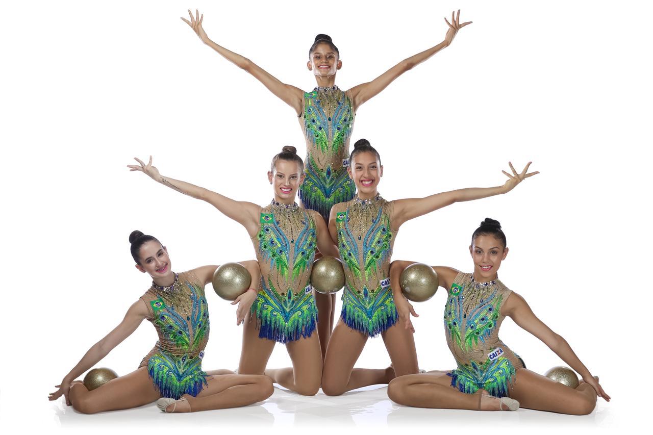 Com nova capitã, conjunto brasileiro de ginástica rítmica estreia em Baku
