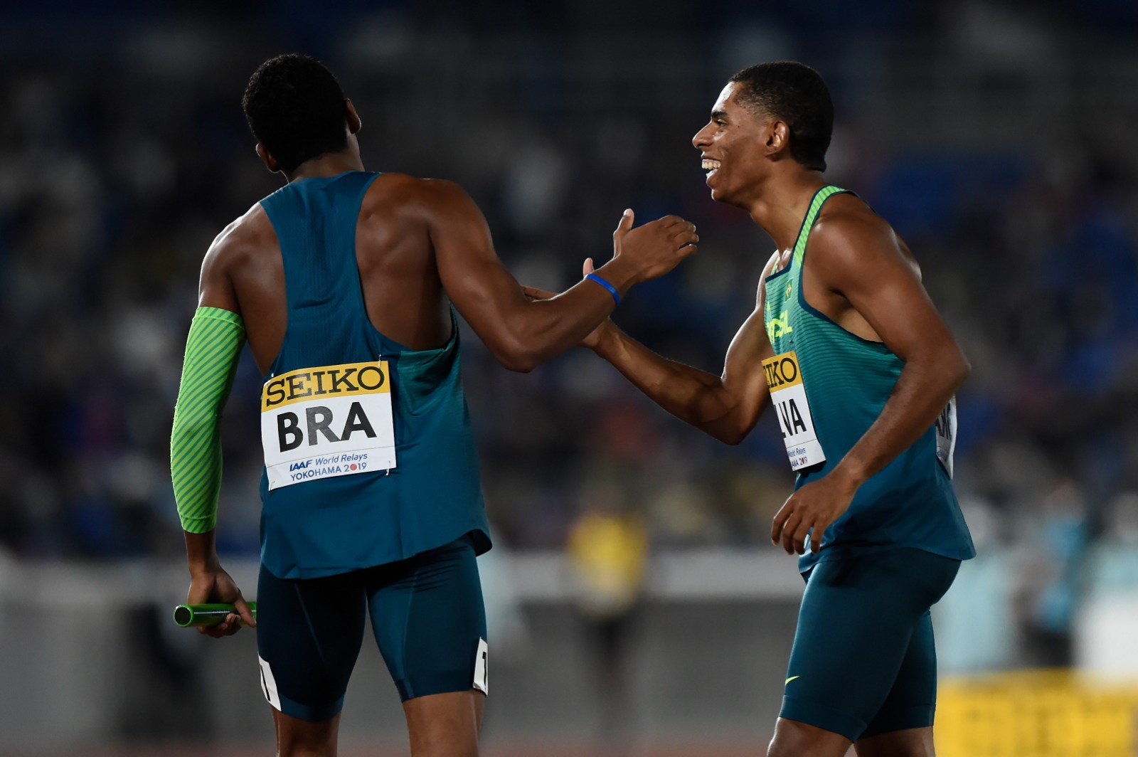 Brasil é campeão mundial do revezamento masculino 4x100m