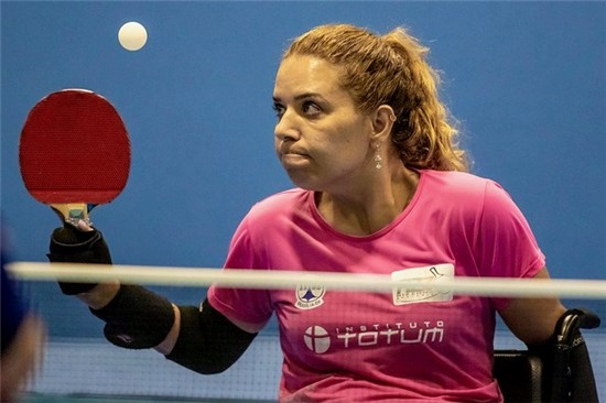 Carla Maia terminou o torneio com duas vitórias e a medalha de bronze. Crédito: Daniel Zappe/CPB/MPIX.