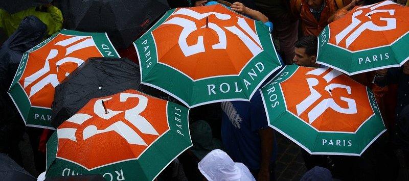 Chuva obriga organização de Roland Garros a adiar rodada