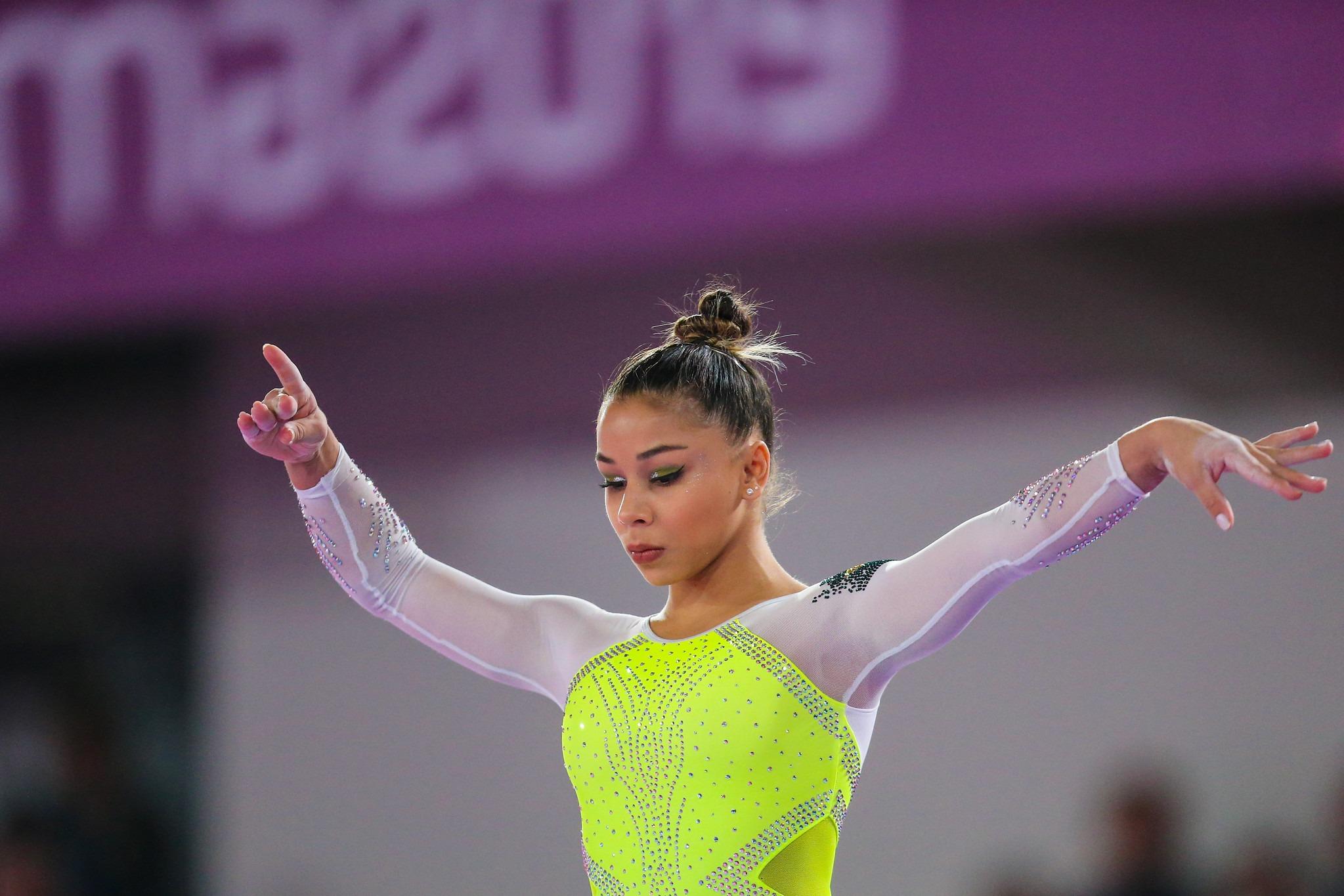Flávia Saraiva repete resultado de Toronto e é bronze no individual geral em Lima