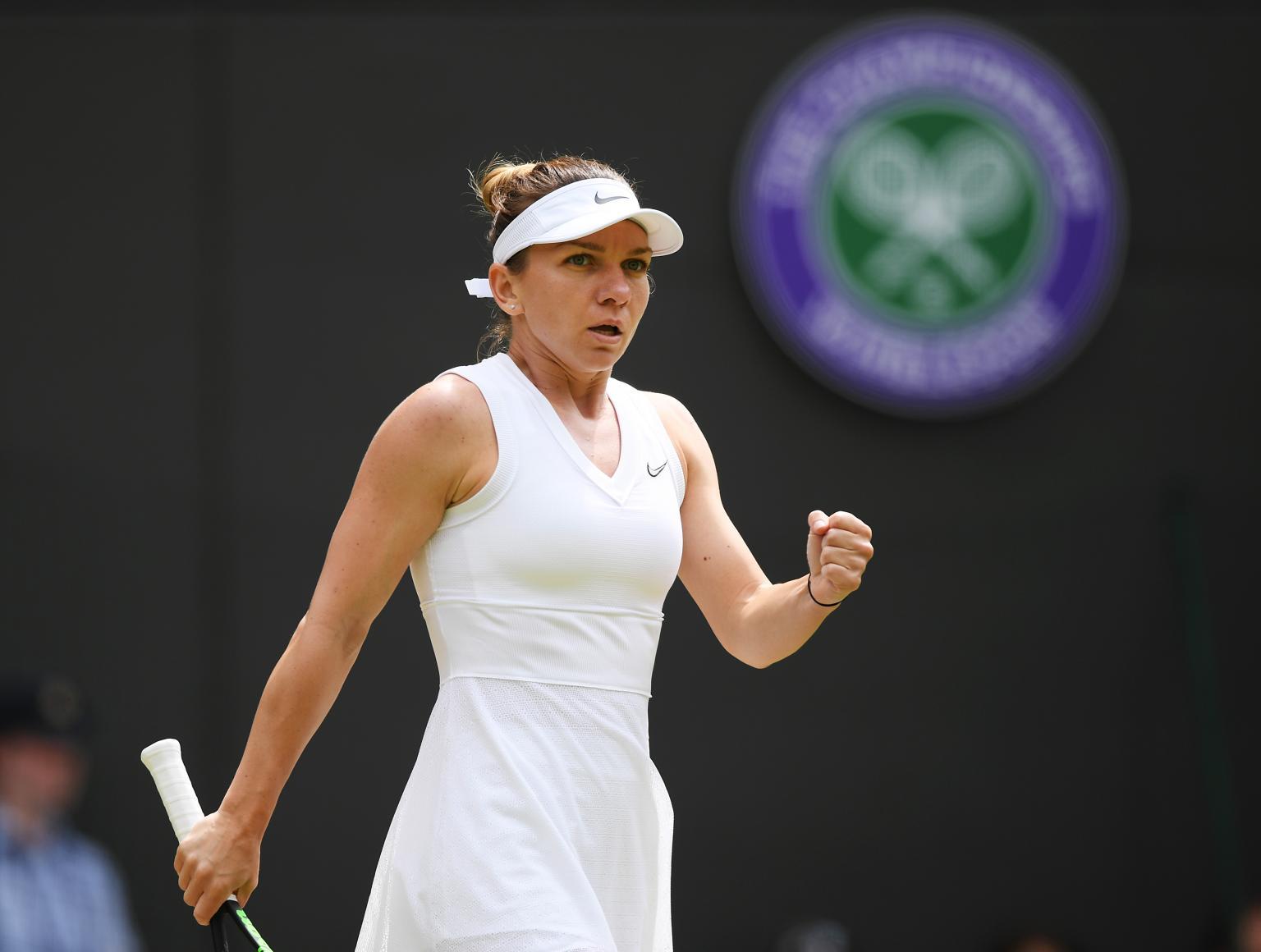 Simona Halep venceShuaiZhang e se garante na semifinal de Wimbledon