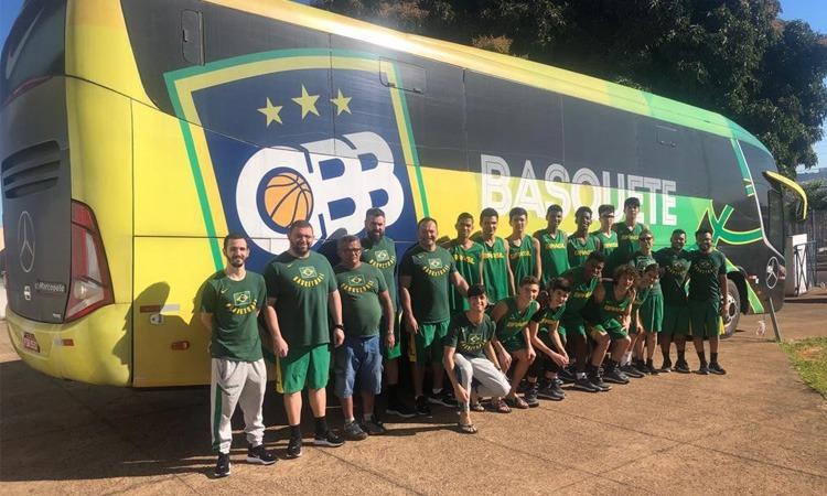 Brasil estreia no Sul-Americano sub-14 de basquete contra a Bolívia