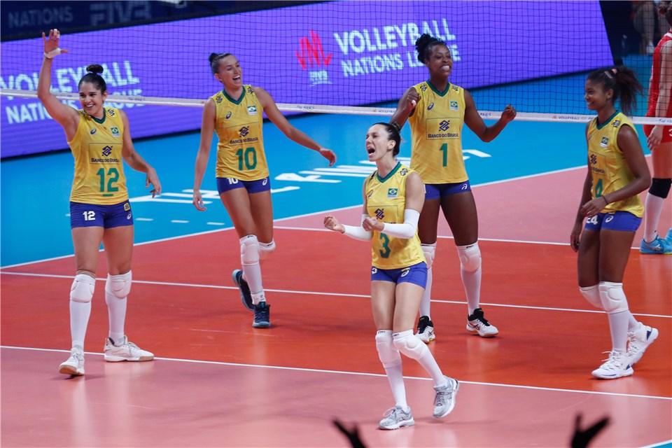 Brasil derrota Turquia e garante inédita final na Liga das Nações