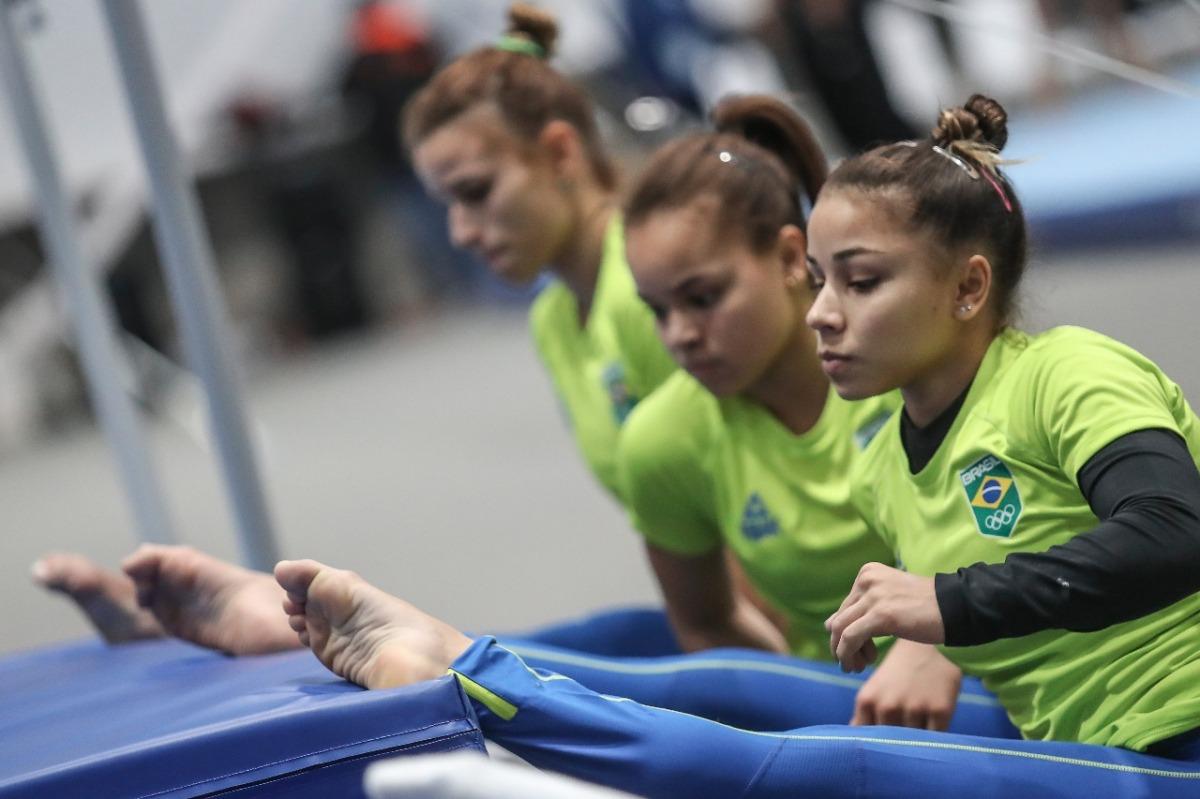 """Seleções de ginástica artística """"quebram o gelo"""" e realizam o primeiro treino em Lima"""