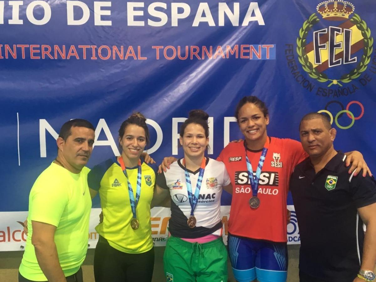 Wrestling brasileiro conquista três medalhas no GP de Madri