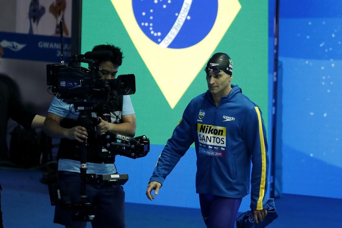 Nicholas Santos é esperança de medalha para o Brasil nesta segunda-feira em Gwangju. Foto: Satiro Sodré/rededoesporte.gov.br Guilherme Guido bate a própria marca e vai à semi dos 100 m costas em Gwangju