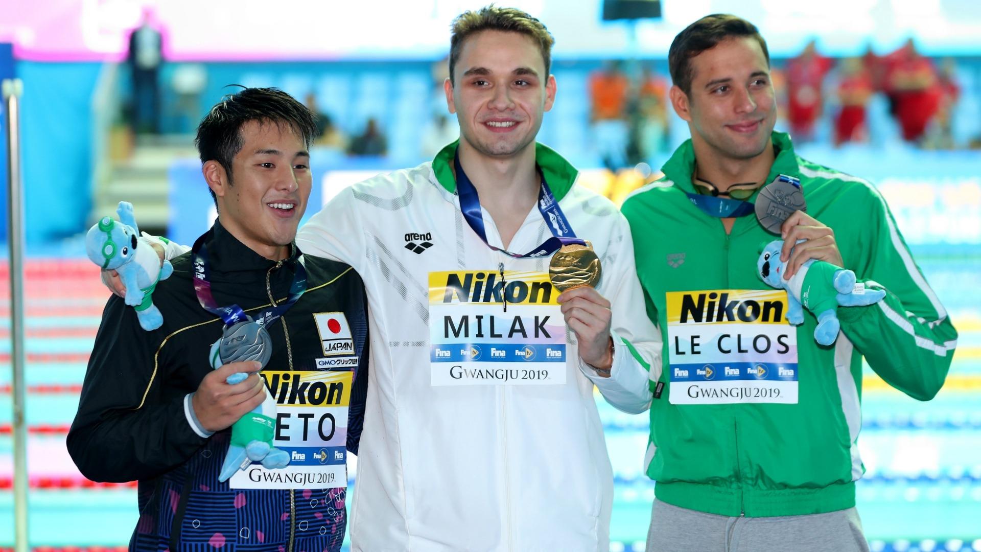 Veja os recordes quebrados na natação em Gwangju