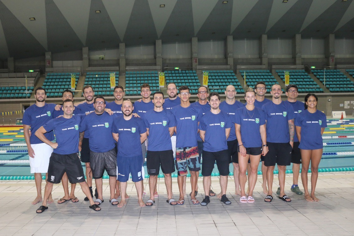 Natação finaliza preparação para o Mundial na base do COB em Sagamihara
