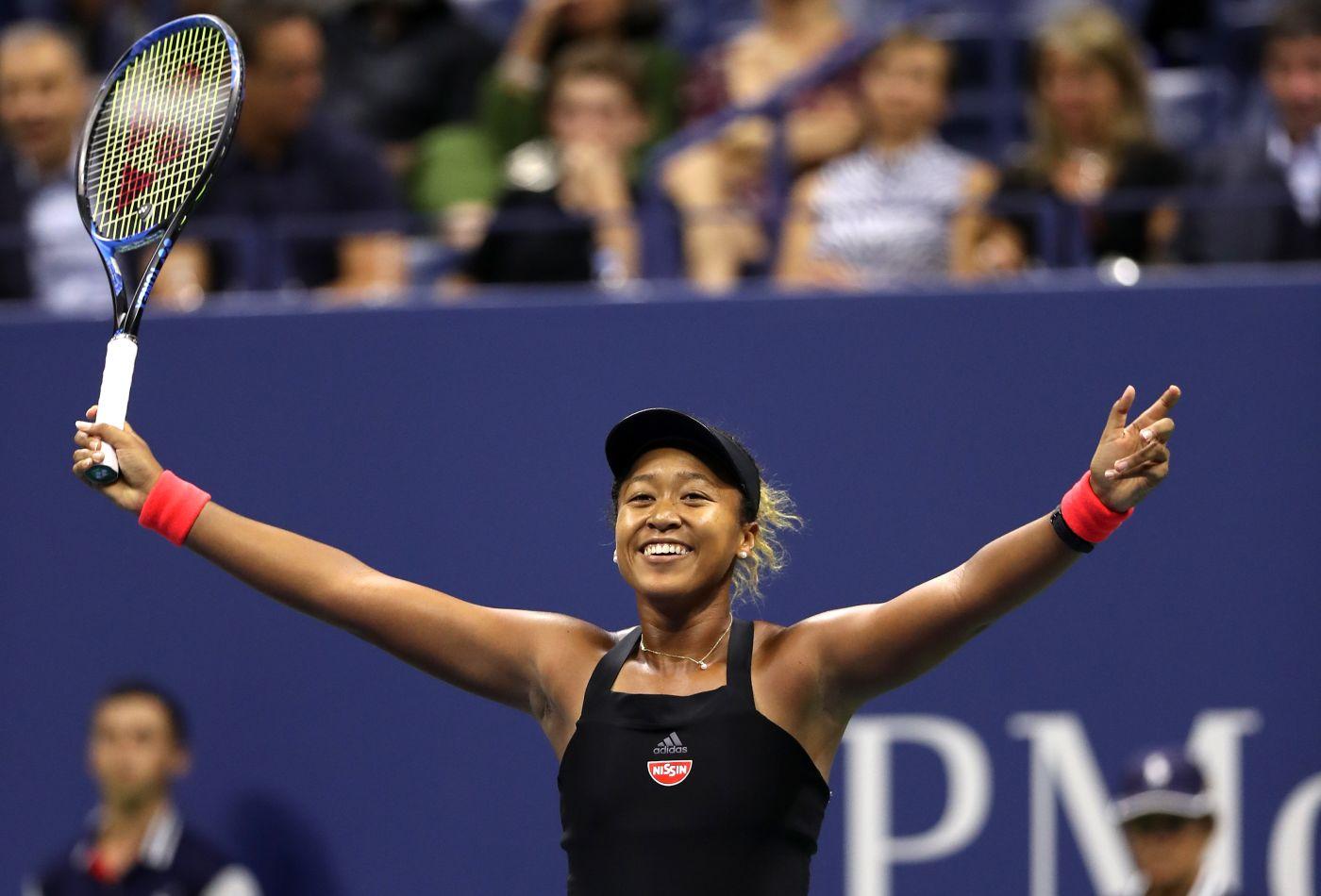 Naomi Osaka durante o US Open de 2018