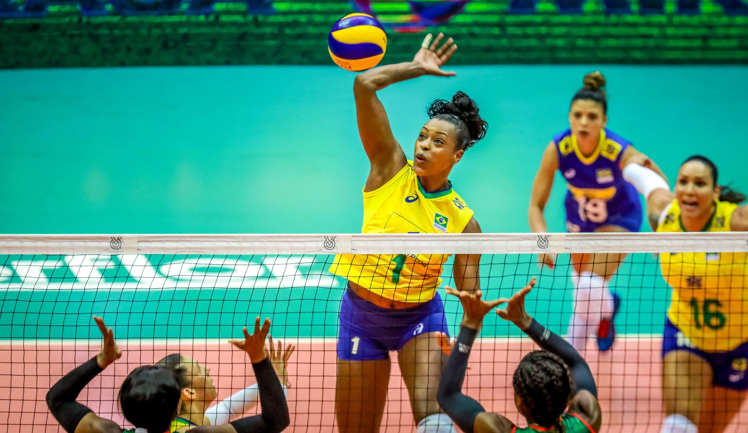 Brasil atropela Camarões e estreia com vitória no torneio pré-olímpico de vôlei