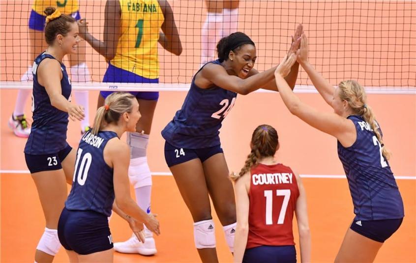 Brasil perde para os EUA na Copa do Mundo de vôlei