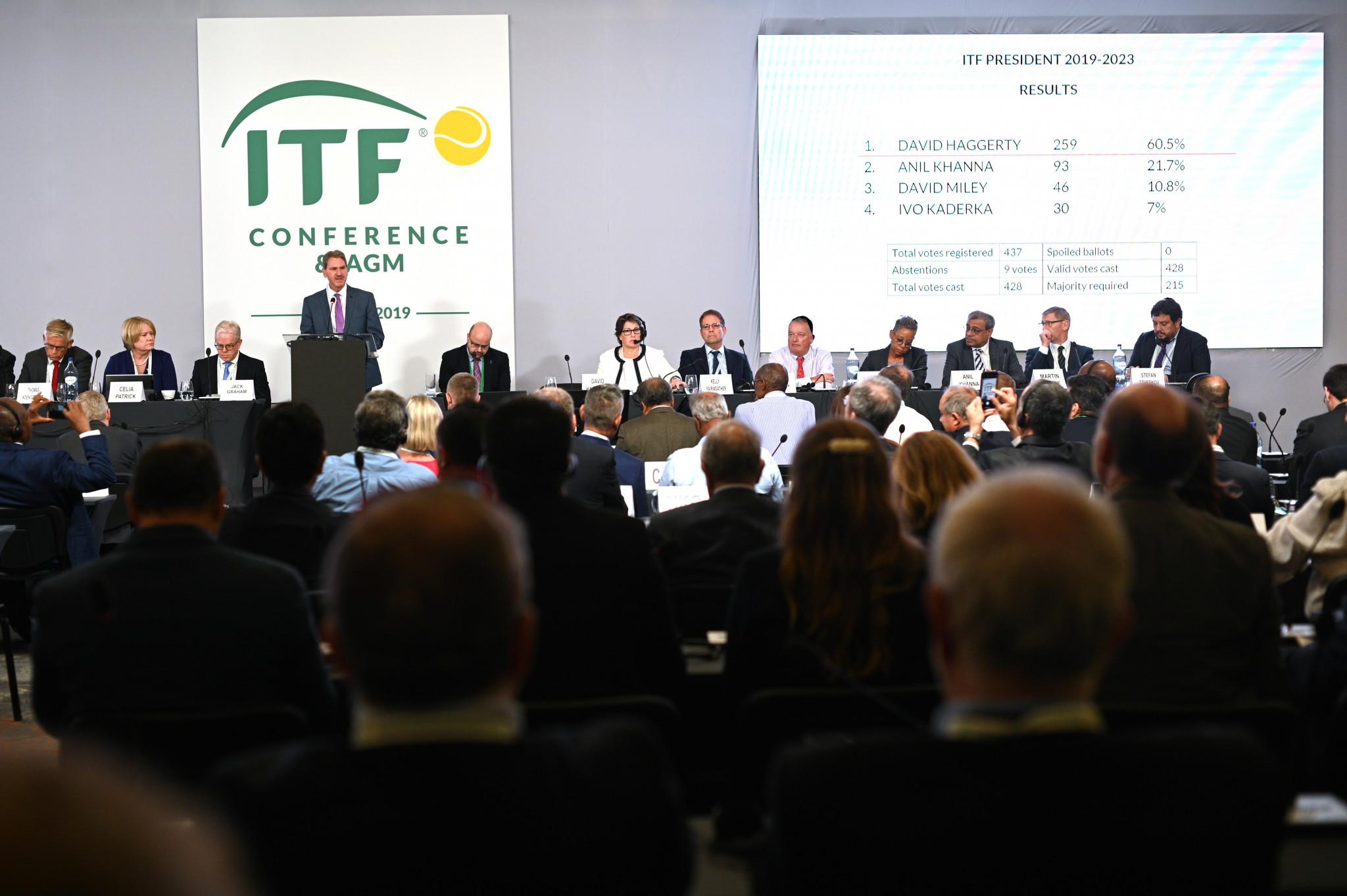 David Haggerty é reeleito presidente da ITF