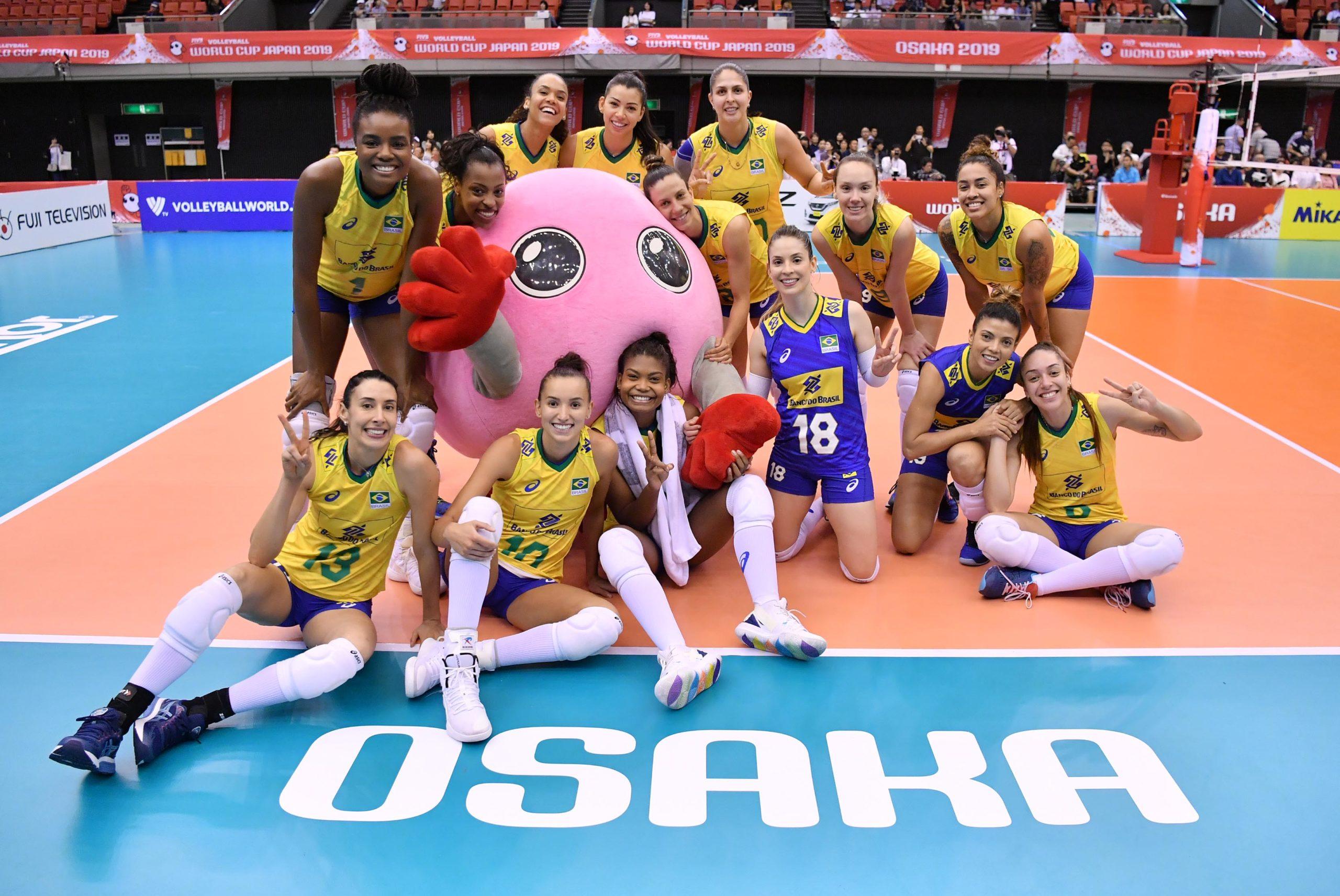 Brasil bate Camarões e garante o 4º lugar geral na Copa do Mundo de vôlei