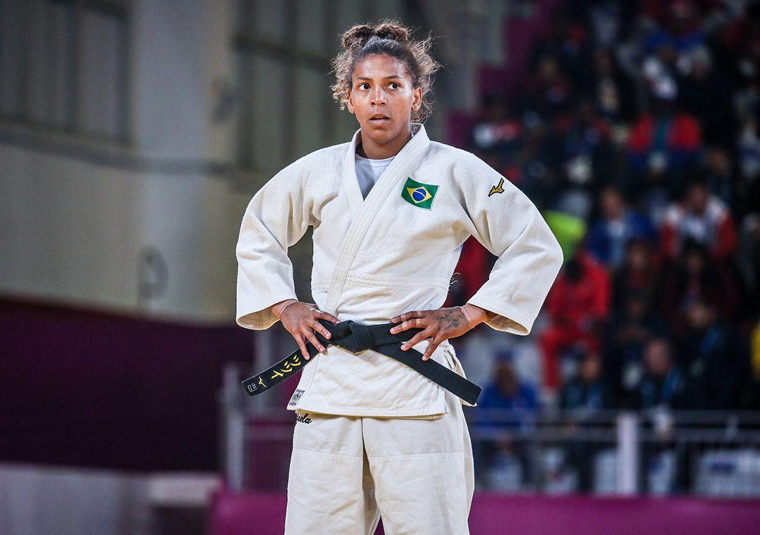 Rafaela Silva ganhou a medalha de ouro no Pan de Lima (Foto: Pedro Ramos/rededoesporte.gov.br)
