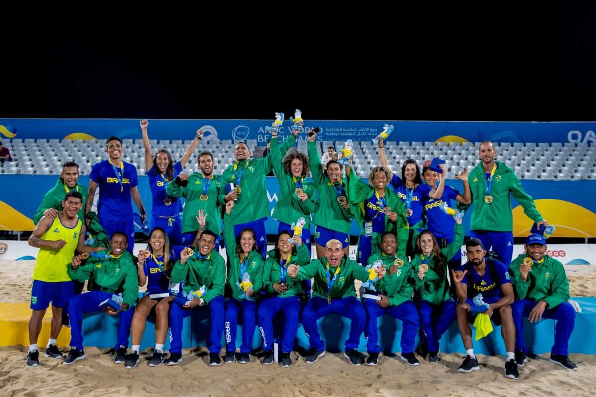 Brasil fecha os Jogos Mundiais de praia em segundo lugar geral