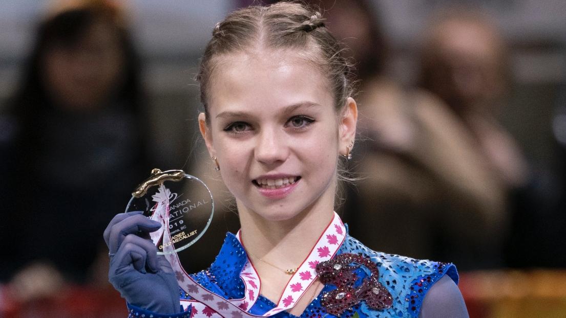 Alexandra Trusova vence Skate Canada; Medvedeva é quinta