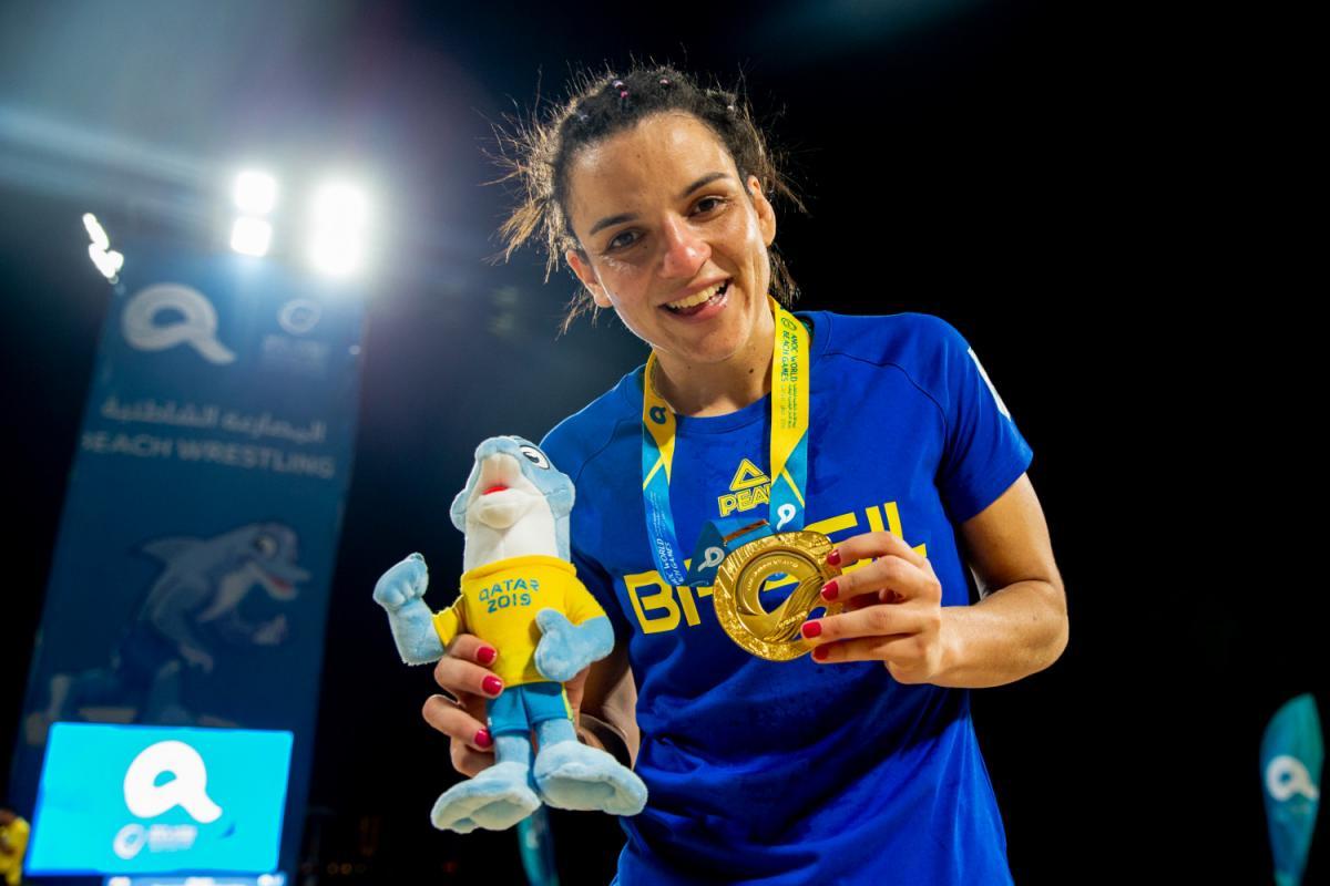 Kamila Barbosa conquista o segundo ouro do Brasil em Doha