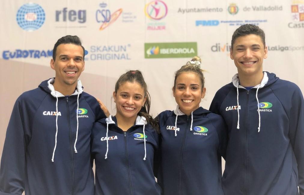 Seleção brasileira de trampolim disputa Copa do Mundo na Espanha