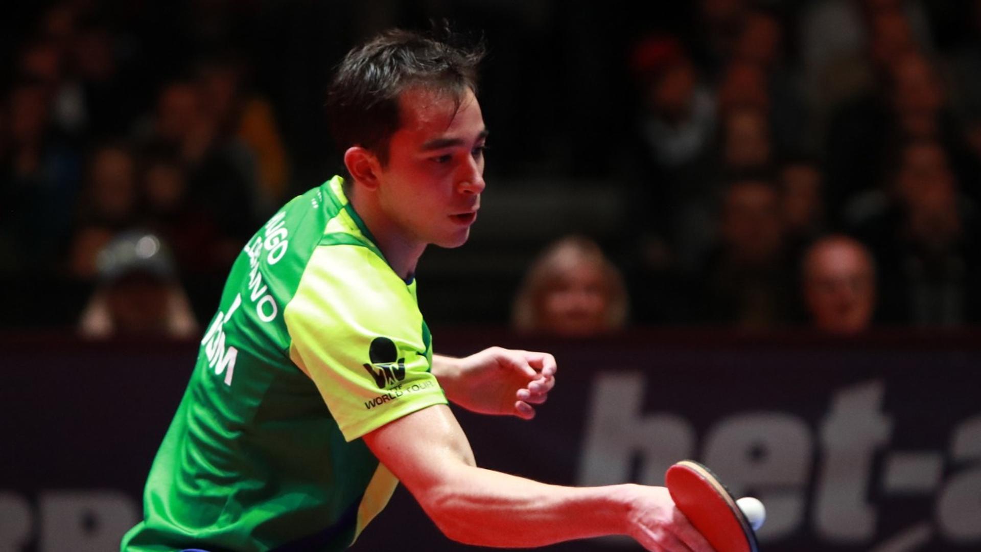 Hugo Calderano faz seu melhor resultado na temporada e fica com o bronze no Aberto da Áustria