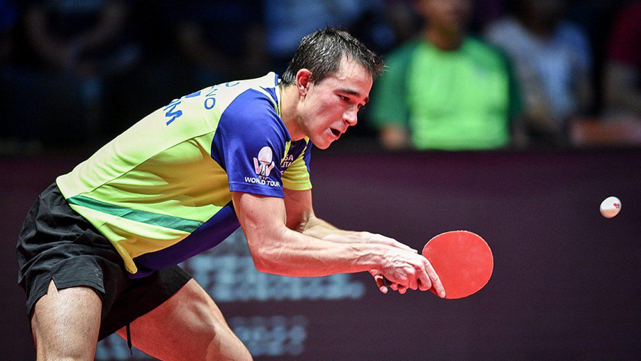 Hugo Calderano disputa torneio com os melhores do mundo em Singapura