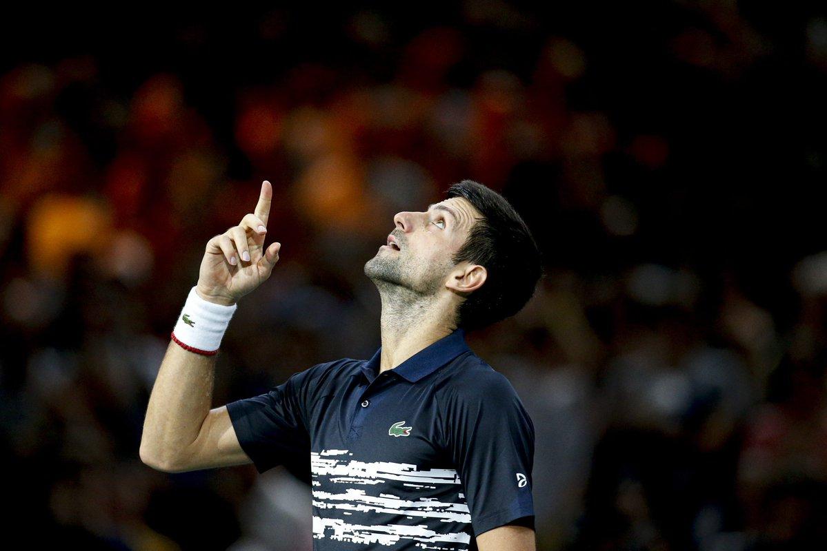 Novak Djokovic busca o pentacampeonato no Masters de Paris