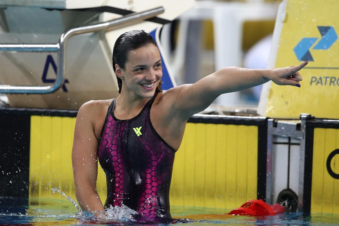 Jhennifer Conceição é ouro nos 50m peito na etapa de Kazan da Copa do Mundo