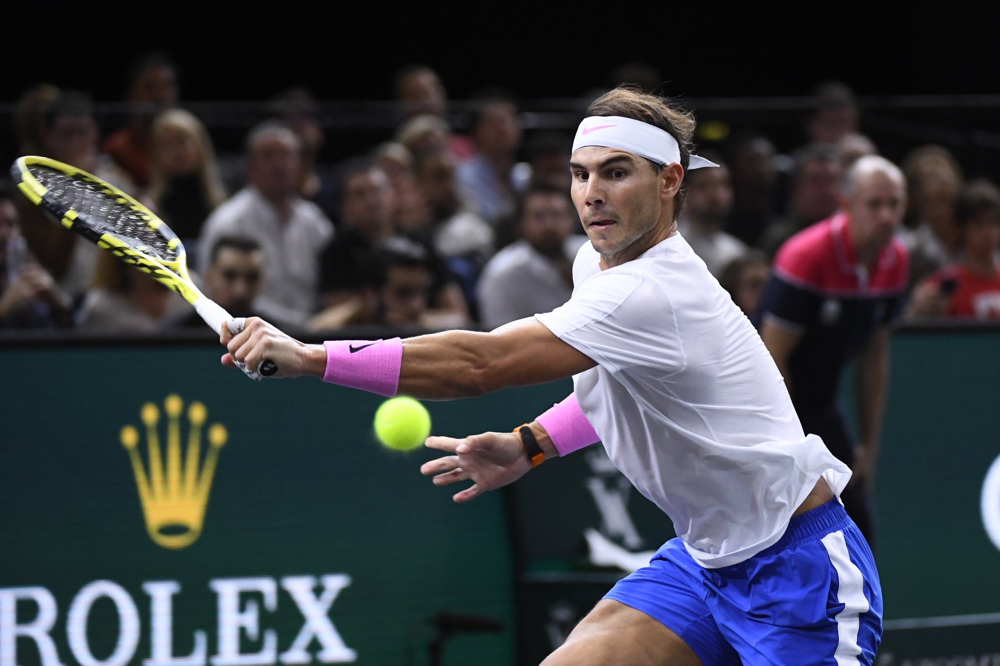 Em recuperação, Rafael Nadal faz primeiro treino para o Finals em Londres