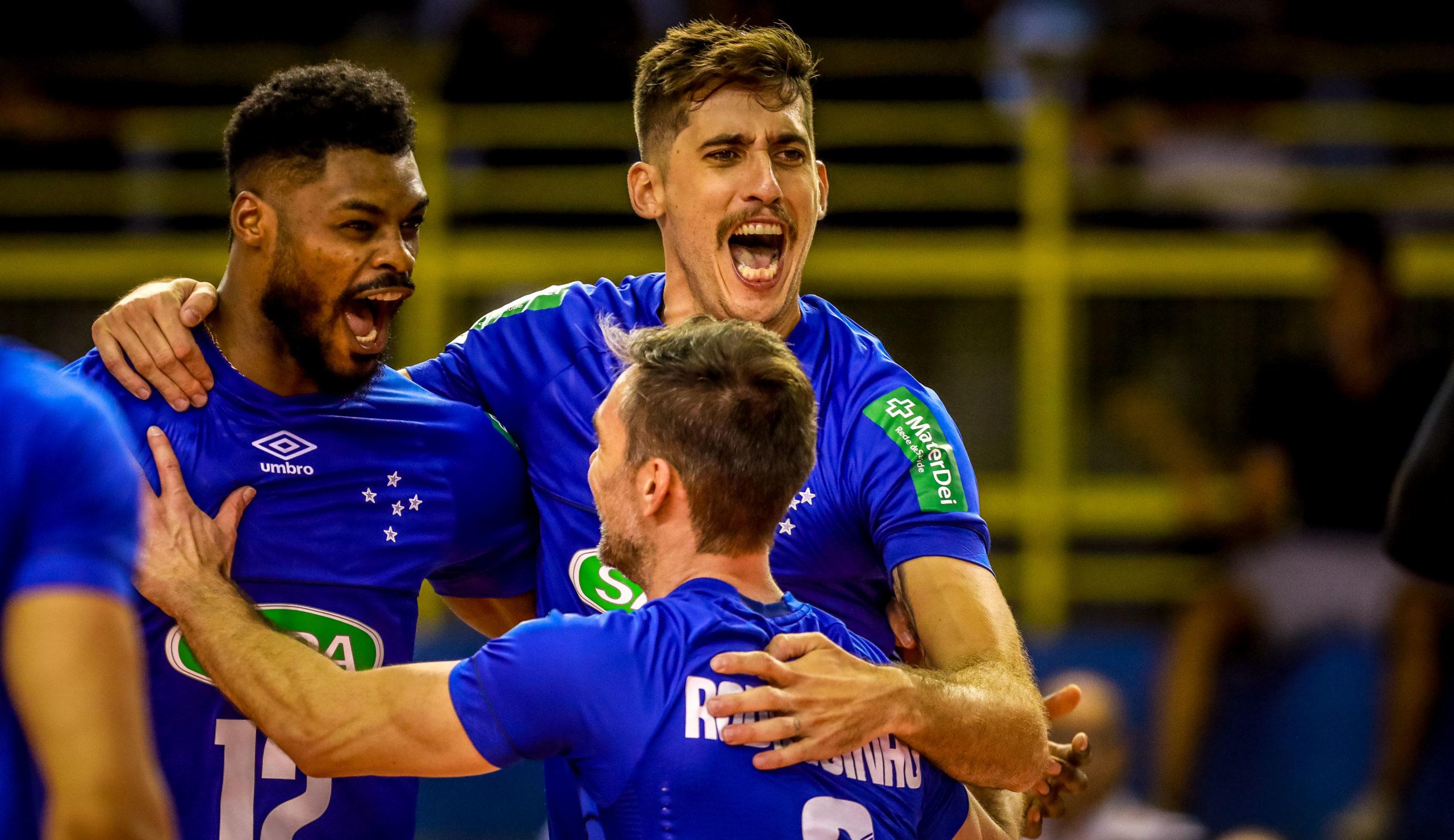 Sada Cruzeiro arrasa o Zenit Kazan e estreia com vitória no Mundial de clubes masculino de vôlei
