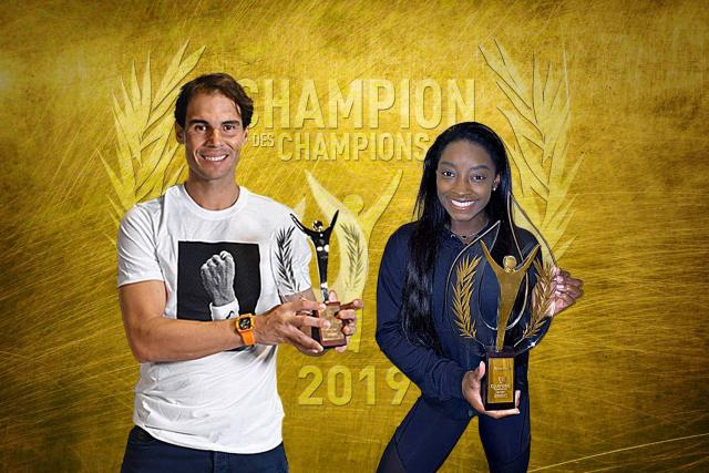 Rafael Nadal e Simone Biles são eleitos os melhores do ano pelo L'Equipe