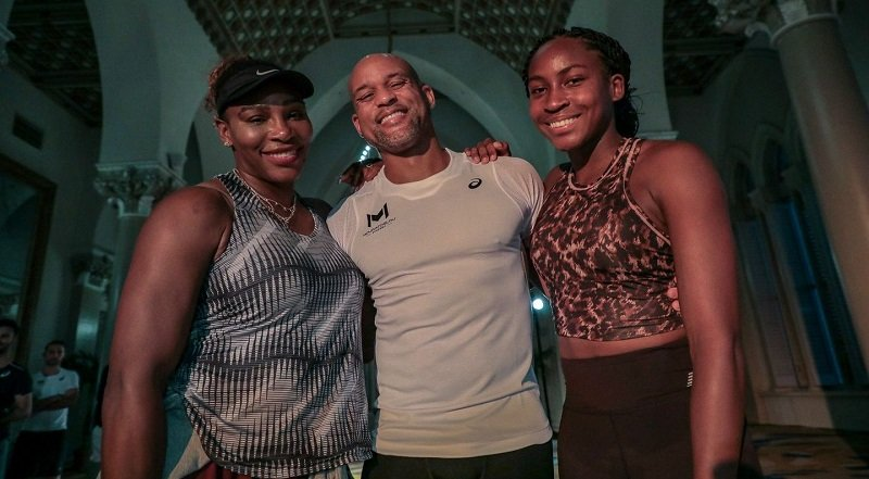 Serena Williams e Coco Gauff treinam juntas em Miami