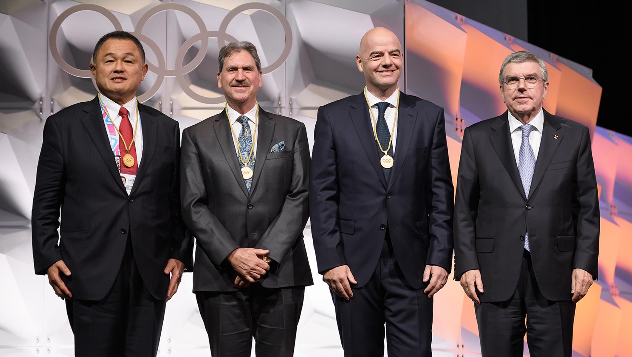 Gianni Infantino, presidente da Fifa, é eleito membro do Comitê Olímpico Internacional