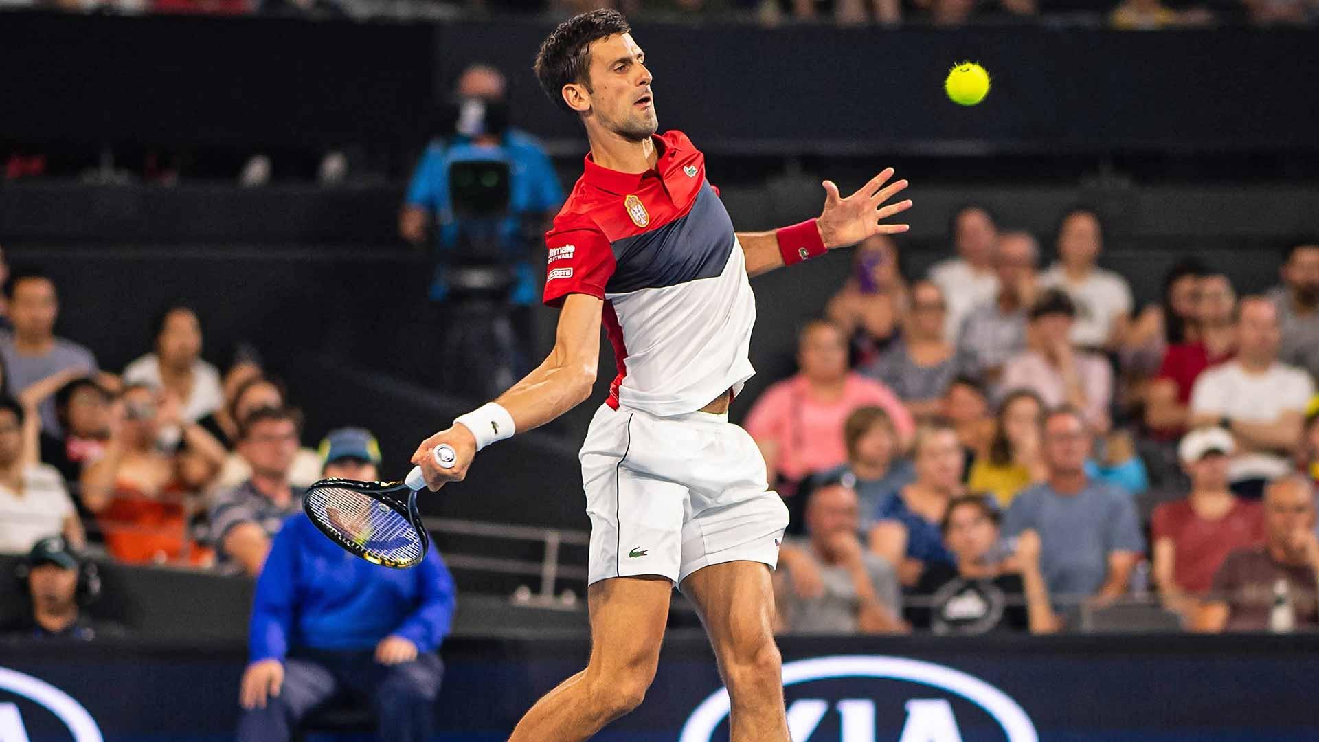 Djokovic supera Monfils e empata duelo entre França e Sérvia na ATP Cup