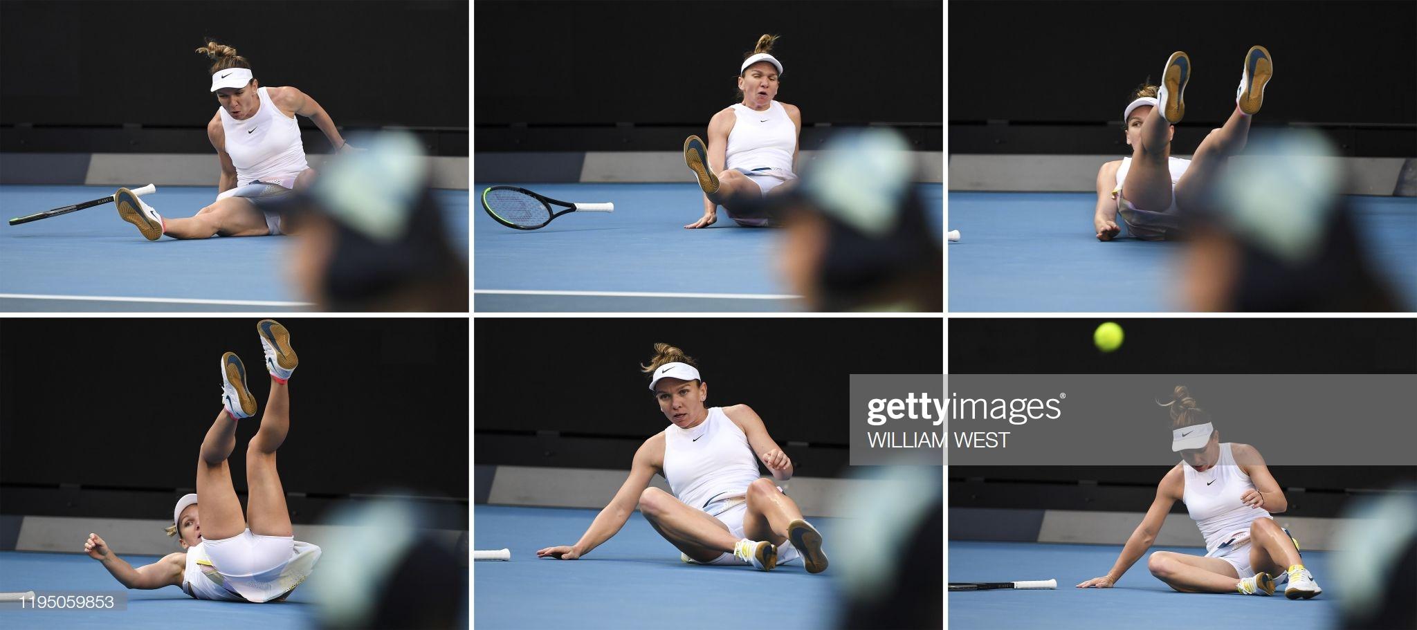 Simona Halep tem dificuldades, cai, machuca o punho mas vence estreia no Australian Open