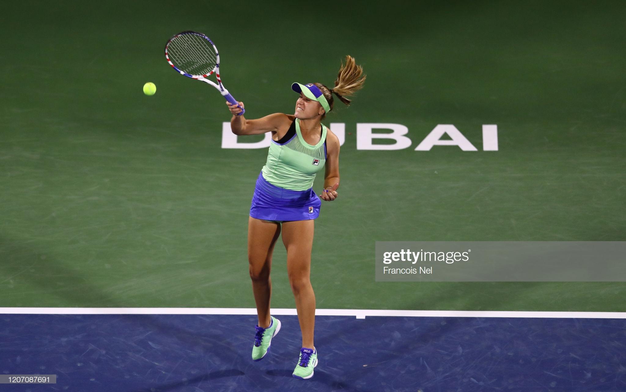Atual campeã do Australian Open, Sofia Kenin cai na estreia do WTA Premier de Dubai