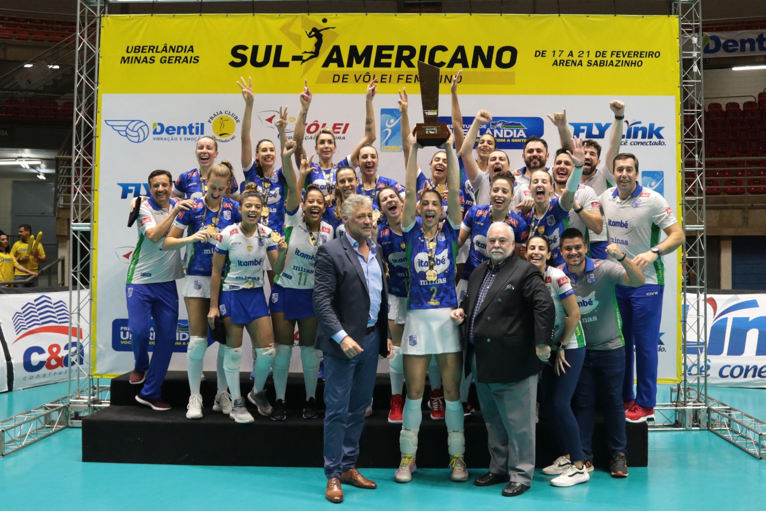 Em duelo nacional, Minas bate o Praia na decisão do Sul-americano de clubes e é campeão pela 5ª vez